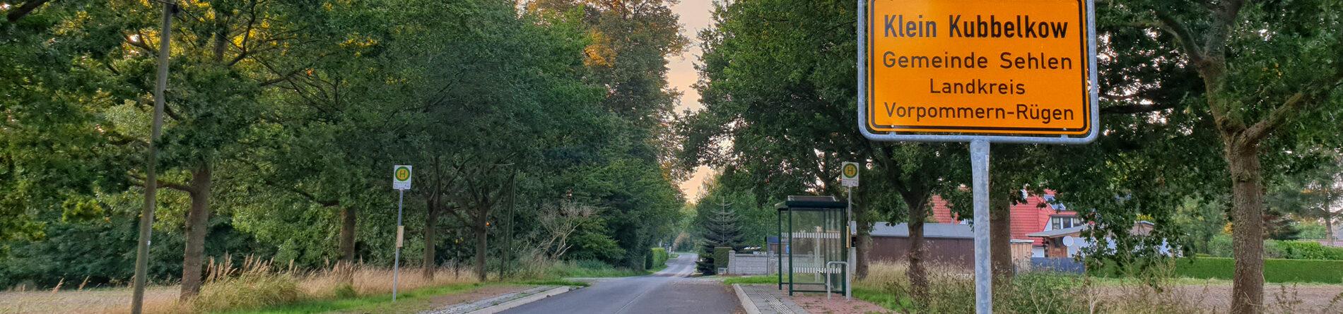 Ortseingang Klein Kubbelkow